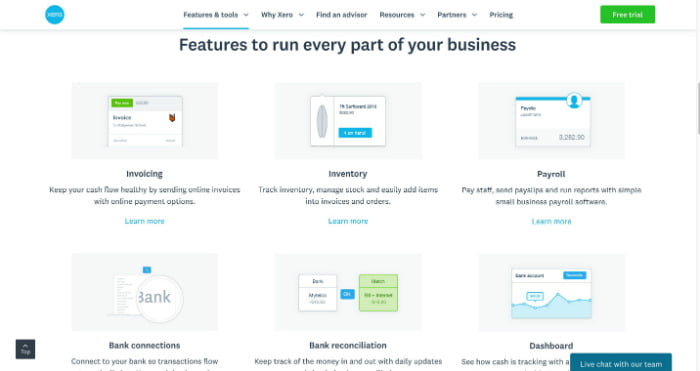 Xero Features