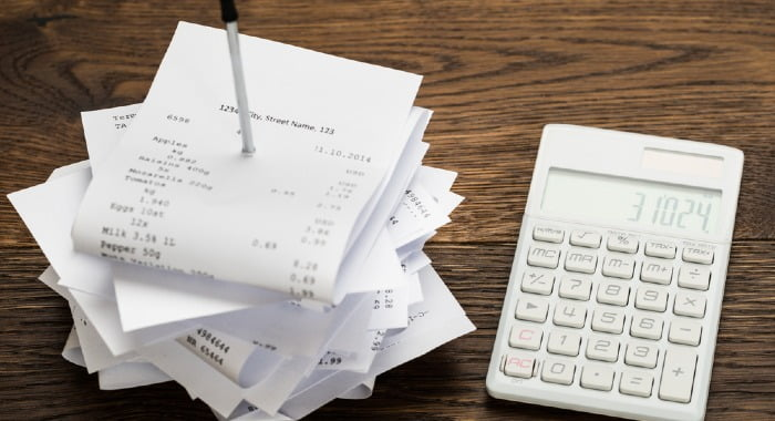 Implement measures to claim all receipts from your employees so there are not receipts missing!